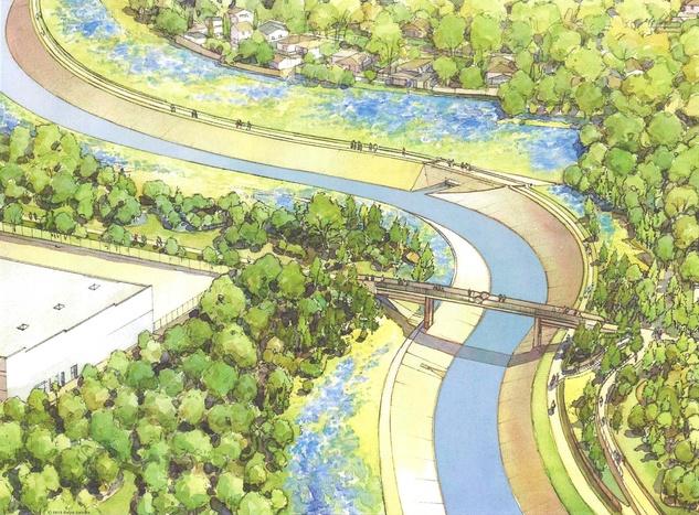 Bayou Greenways White Oak Heights Bike Hike Trail