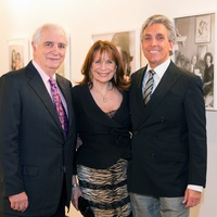 4 Bill Rolnick, from left, Nancy Ellison and Charles Cohen at Fall Market May 2014
