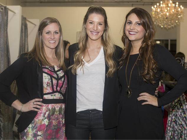 Caitlyn Mullanix, Blaine Muhl, Chelsea Brogdon, Chantilly Charity Event