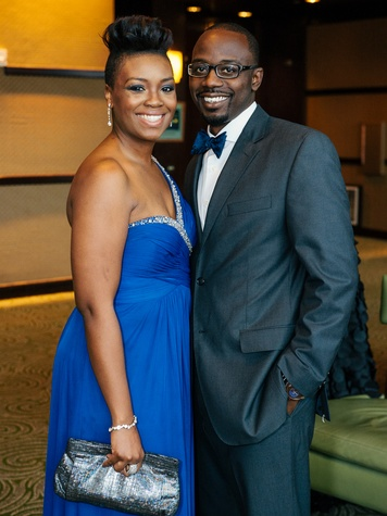 2 Shekeria and Tim Whitaker at the Memorial Hermann Gala April 2014