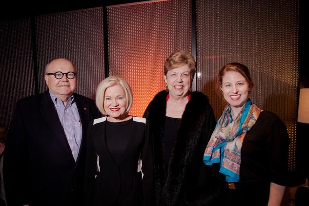 Frank Douglas, from left, Jo Furr, Judy Douglas and Sarah Ann Mockbee at the Texas Film Awards Event February 2015