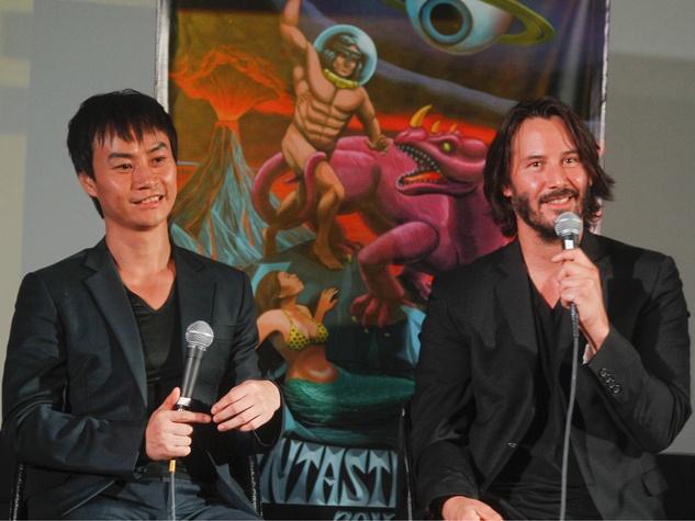 Tiger Chen and Keanu Reeves q&a at Man of Tai Chi at Fantastic Fest