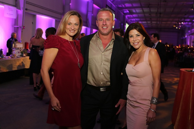 Rachel and Tom Regan, from left, with Ericka Bagwell at the March of Dimes Signature Chefs event October 2014