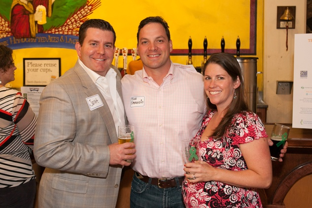 Josh Bowlin, from left, Mike Sperandio and Dabney Graney at the PALS event June 2014