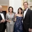 Rienzi society dinner, Feb. 2016, Ed and Cathy Frank; Jenny Elkins; Will Bowen;