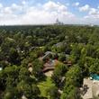 On the Market 12020 Tall Oaks St. Frank Lloyd Wright house July 2014 Aerial
