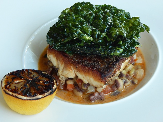 Paul's Kitchen food items September 2014 Gulf red snapper