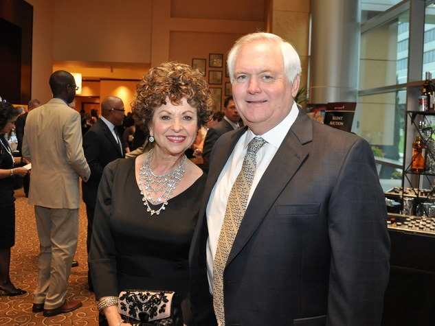 Matt Schaub's foundation dinner April 2013 Laurie Phillips, Wade Phillips