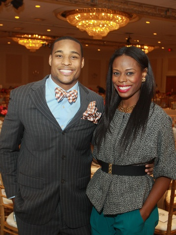 135 Aundre Dean and his sister, Shannon Dean at the Child Advocates luncheon December 2013