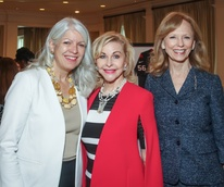Council Member Karla Cisneros, Dana Kervin and Susan Sarofim/Mayor's Literacy Breakfast