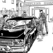 page from Who Killed JFK? by Justin Sewell of kid detective at Parkland Hospital