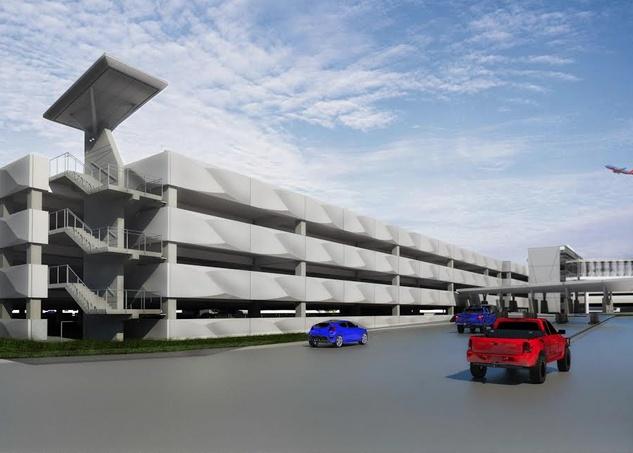 Garage rendering Hobby Airport