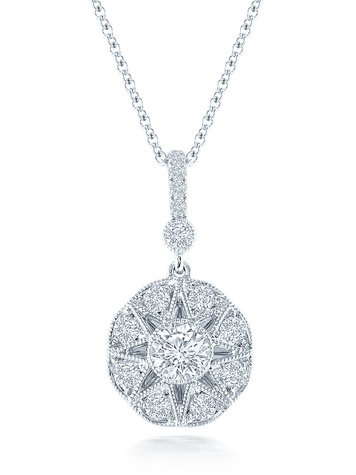 Marchesa 9 stone antique pendant