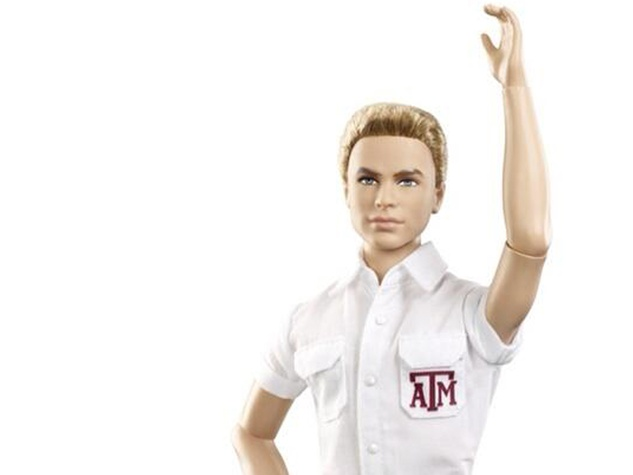 Mattel new Texas A&M Ken doll as yell leader September 2013