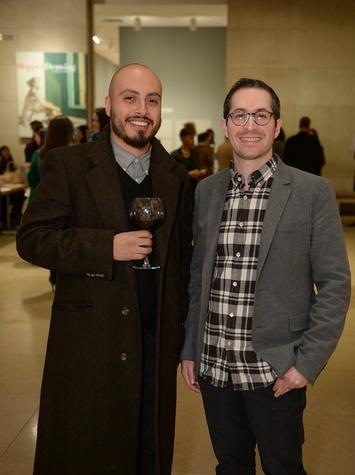 Arthur Pena and Gabe Ritter at DMA Junior Associates Curators Choice