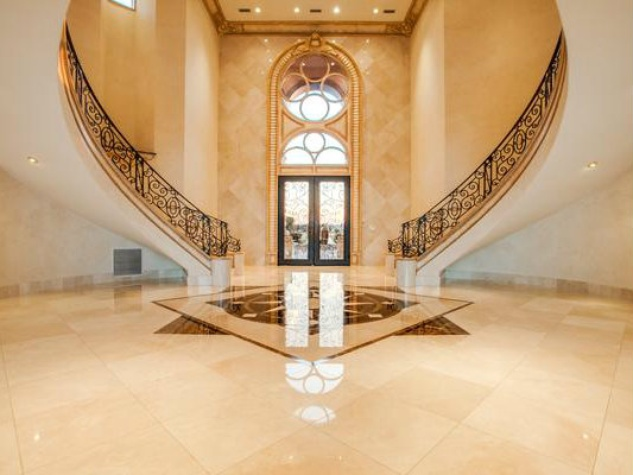 Foyer at Deion Sanders home in Prosper