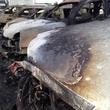 4 Tom Peacock Cadillac crash and fire May 2014