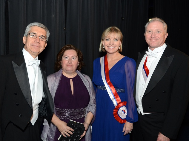 54 Jorge Valdés, from left, Mrs. Patricia Nuñez and Stephanie and Rod Nelson at the Consular Ball October 2013