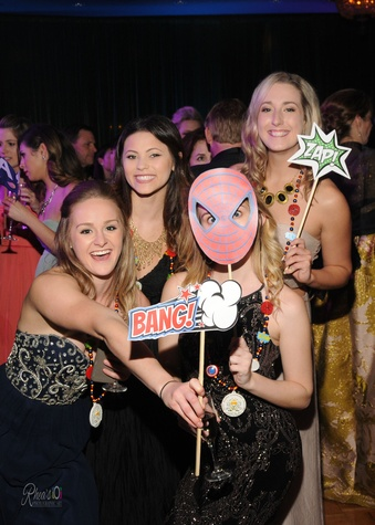 Knights of Momus Ball, Feb. 2016, Alesha Pounds, Paige Fallon, Ashley Jenschue, Kaitlyn Dunahoo