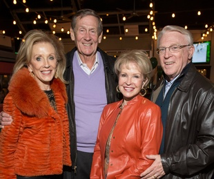 Betty Crawford, Jim Hammond, Kay Hammond, John Crawford, Snuffers grand opening
