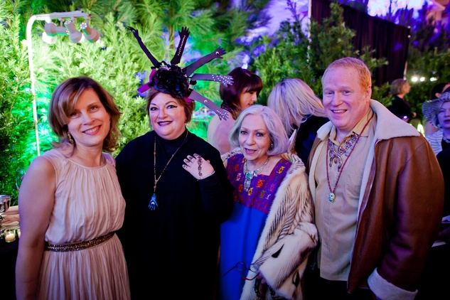 20 Jackie Ford, from left, Laura Peters and Pat and Whit Adams at the Orange Show Gala November 2014