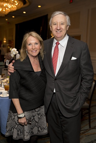 3 Kathy O'Neil and Phil Ferguson at Bo's Place luncheon February 2015