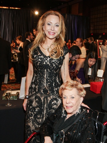 Carolyn St. Clair, left, and Beverly Wren at the Citizens for Animal Protection Gala November 2013