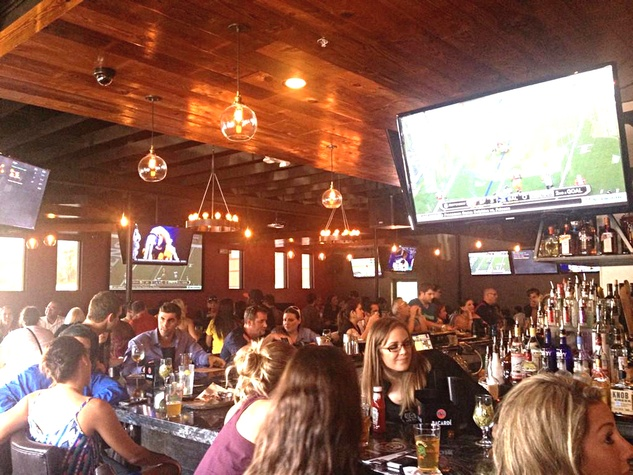 Revelry on Richmond sports bar interior with crowd