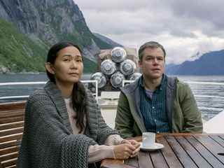 Hong Chau and Matt Damon in Downsizing