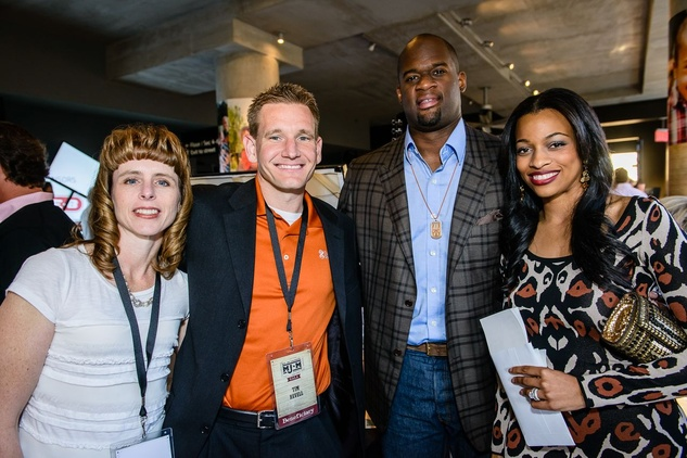 Vince Young and beneficiary at MJM benefit