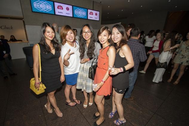 Chiu Wu, from left, Tiffany Chu, Iusun Hong, Anna Wu and Heesang Ku at the MFAH Mixed Media Party June 2014
