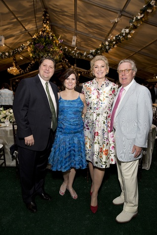 Chris and Heather Enright, from left, and Carol and Michael Linn at the Bayou Bend Garden Party March 2015