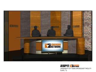 Austin Photo Set: News_Kevin_Longhorn Network_July 2011_set desk