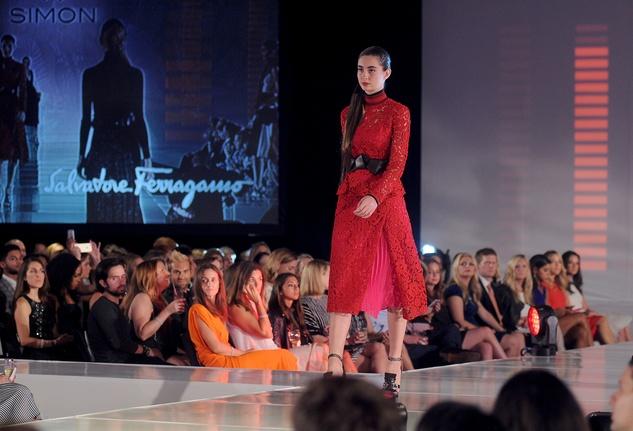 Houston, Vogue Simon Fashion Show, September 2015, model in Salvatore Ferragamo