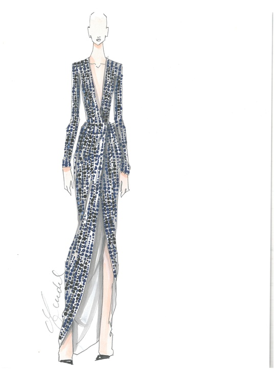 Clifford New York Fashion Week fall 2015 sketch February 2015 J. Mendel