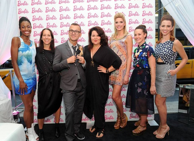 Designers and models at Barbie New York fashion week party