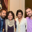 Manny Gonzales, from left, Sandy Trevino, Rakhee Sharma and Joe Maxwell at the Rienzi Punch Party October 2014.