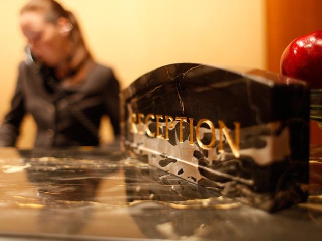 reception desk lobby in hotel