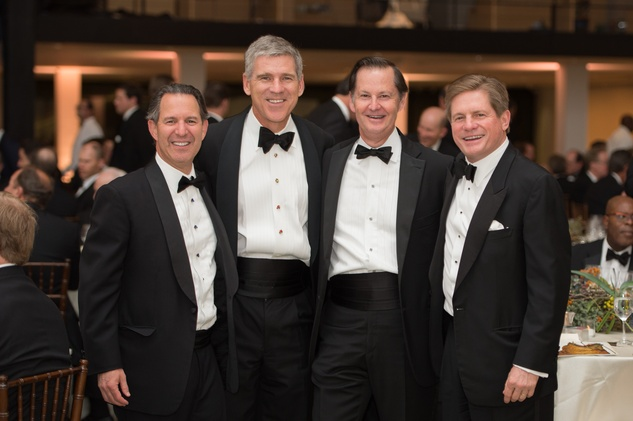 Kitch Taub, from left, Paul Hobby, Ralph Eads and Jeff Hildebrand at Museum of Fine Arts Houston MFAH One Great Night November 2014