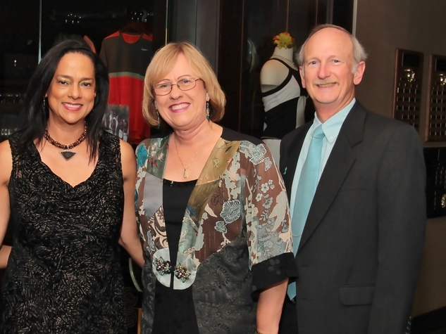 5 Karen Francis, from left, with Betty and NAME Mr. White at the Ovarcome Gala May 2014
