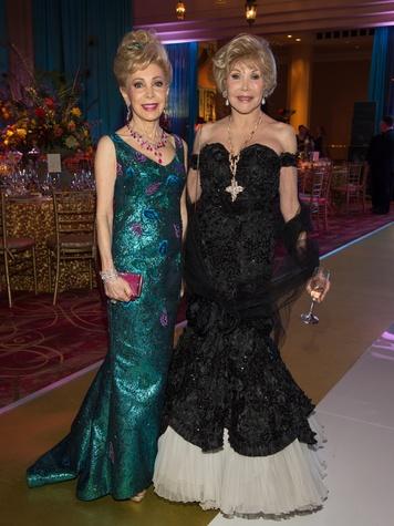 Margaret Alkek Williams, left, and Joanne King Herring at the Houston Ballet Ball February 2014