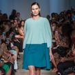 Look 9 Fashion Week spring 2015 Rolando Santana model