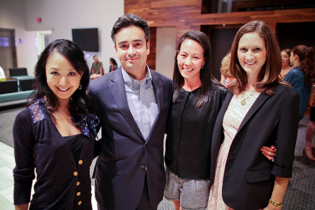 Nao Kusuzaki, from left, David Rassin, Ting Bresnahan and Marina Willets at the Houston Ballet Center for Dance's Ballet and Bubbles October 2013