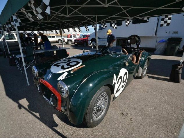 Vintage racecar sports car at Circuit of the Americas