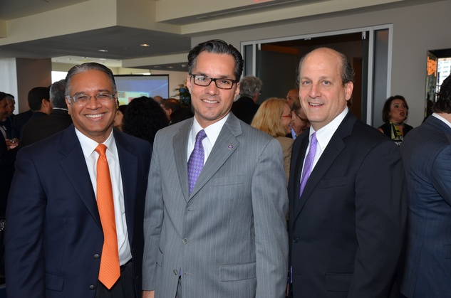 Mustafa Tameez, from left, Jay Guerrero and Michael Moore at the Houston Hispanic Chamber of Commerce luncheon & business expo April 2015