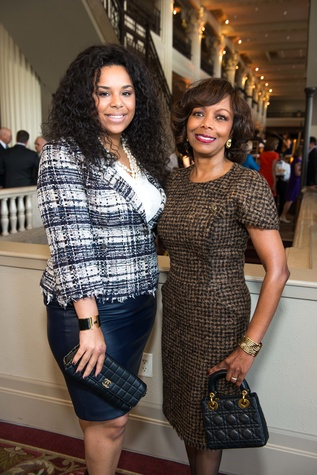 Lauren Randle, left, Lora Clemmons at the Legacy Luncheon September 2014