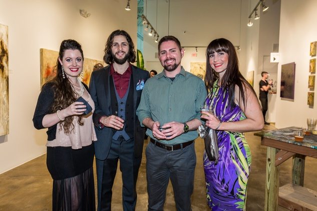 Katie Gray, from left, Justin Garcia, Mark Canady and Briana Roy at Justin Garcia presents 7 Unlayered October 2014