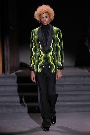 Tom Ford green patterned coat