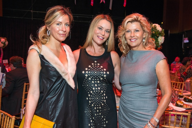 Laura Greenberg, from left, Megan Sutton Reed and Susan Plank at the SPA luncheon with Lauren Bush Lauren October 2014