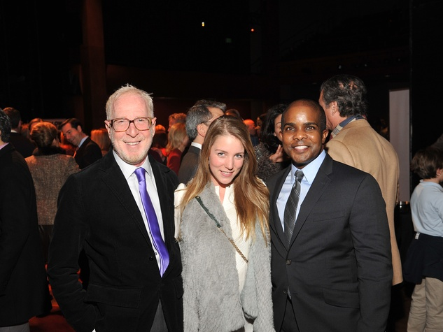 Rusty Arena, left, guest and Alton LaDay at the Houston Arts Alliance Reception for the Arts January 2014